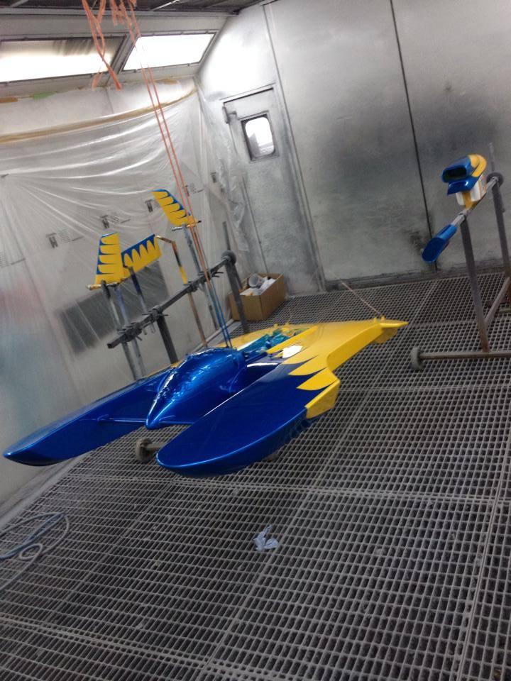 Speedboot Designlackierung Effektlackierung Modelbau