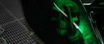 Skull Airbrush auf einem Trike lackiert von Daniel Schubert aus Paderborn NRW