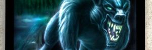 Werwolf gemalt mit der Airrbushpistole