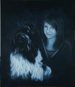 Portraitmalerei Airbrush von Daniel Schubert aus NRW