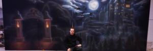 Bühnenbild gemalt in Airbrushtechnik
