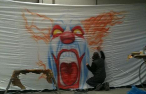 Clown Airbrush xxl malerei ds Lackiertechnik