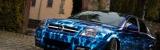 Airbrushlackierung und Ganzlackierung mit blauen flammen auf tuning vectra