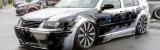 Ganzlackierung Airbrush Effektlackierung auf VW Bora mit Nassklarlack für Klavierlack optik