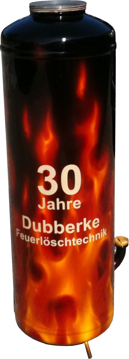 Airbrush Effektlackierung mit flammen auf Feuerlöscher lackiert von DS Lackiertechnik aus Paderborn NRW