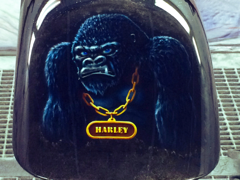 Harley lackieren-Airbrush-Gorilla