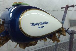 Harley-Tank-Lackierung