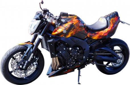 Motorrad-komplett-ACDC-Arirbrush-Lackierung