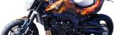 Streetfighter Bike mit ACDC Flammen Airbrushlackierung lackiert von DS Lackiertechnik aus Paderborn NRW