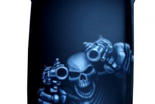 Airbrush-Skull-auf-Harley