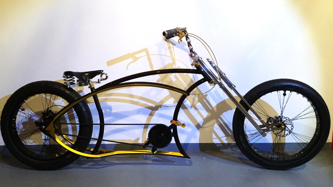 Effektlackierung auf chopper Fahrrad  lackiert von Daniel Schubert aus Paderborn NRW