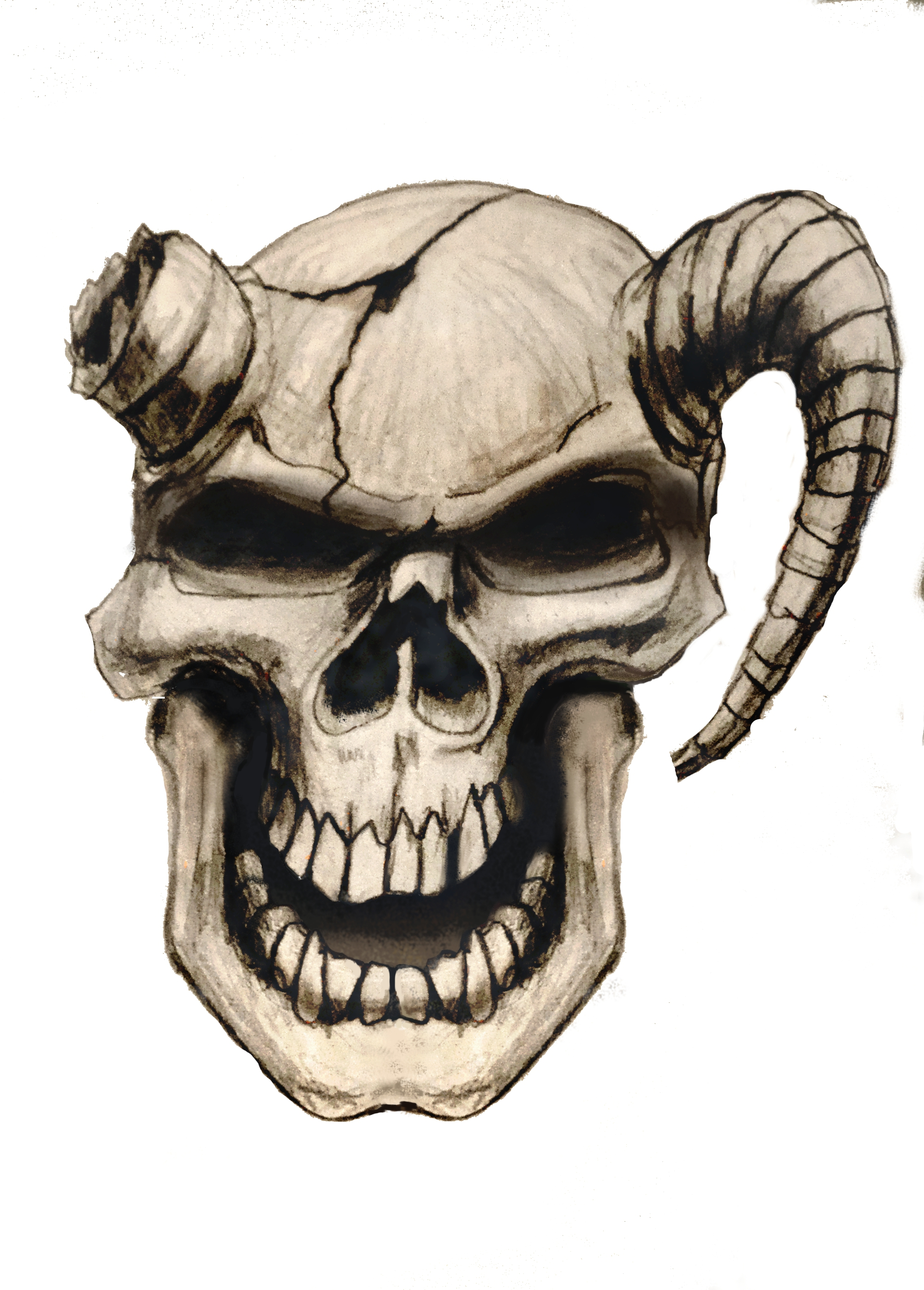 Skull Airbrush von Daniel Schubert aus Paderborn NRW