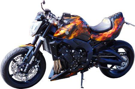 Airbrush-Motorrad-flammen-Lackierung
