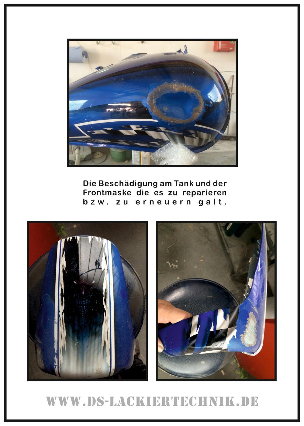 Motorrad Airbrush! Unfallschaden, Airbrush komplett erneuert 2 Motorrad Airbrush