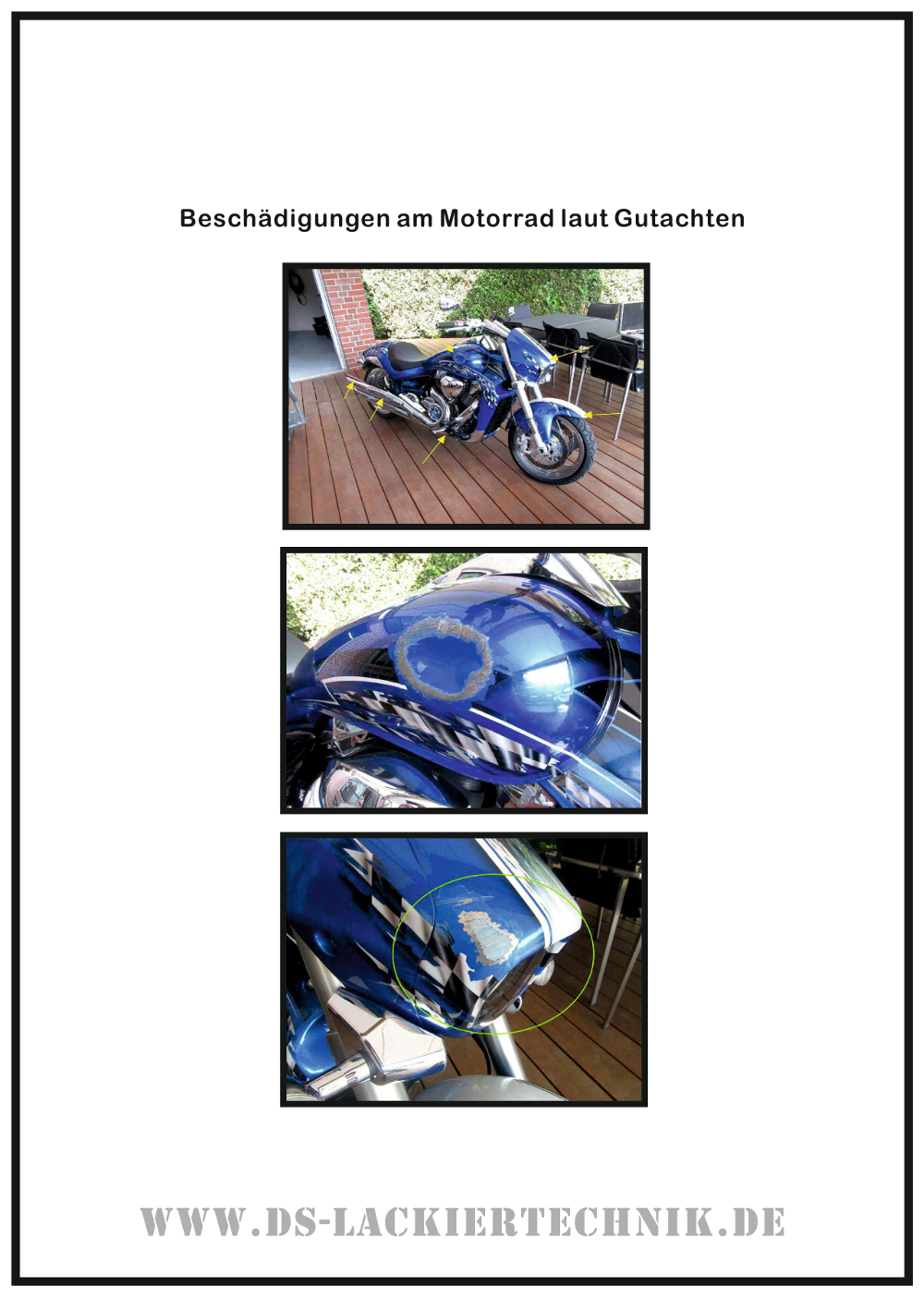 Motorrad Airbrush! Unfallschaden, Airbrush komplett erneuert 1 Motorrad Airbrush