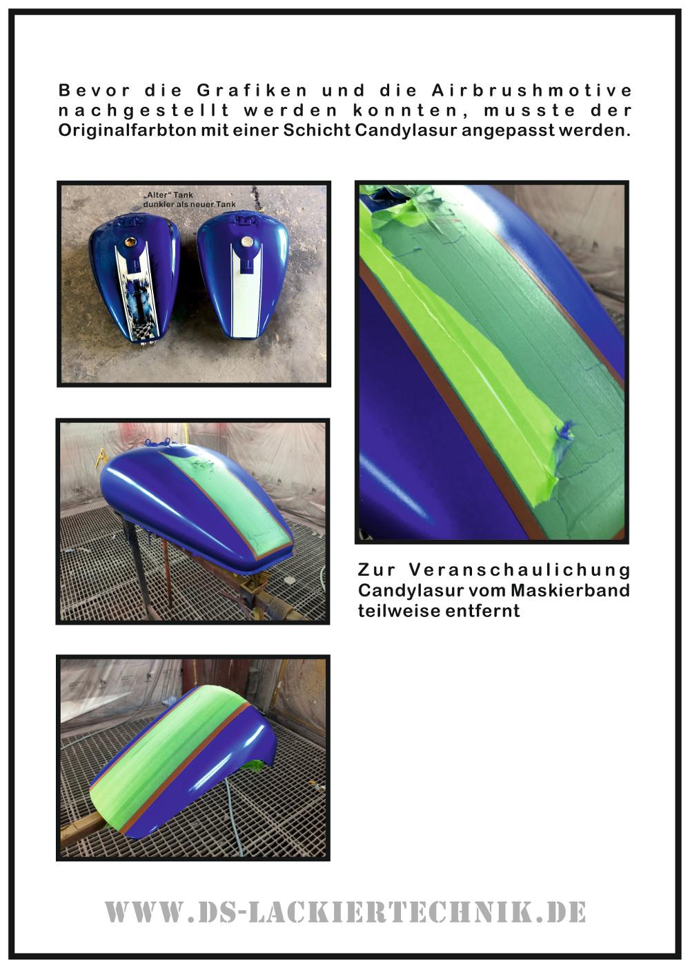 Motorrad Airbrush! Unfallschaden, Airbrush komplett erneuert 3 Motorrad Airbrush