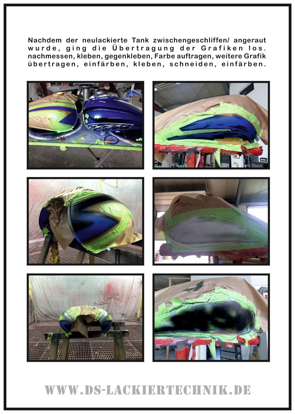 Motorrad Airbrush! Unfallschaden, Airbrush komplett erneuert 4 Motorrad Airbrush