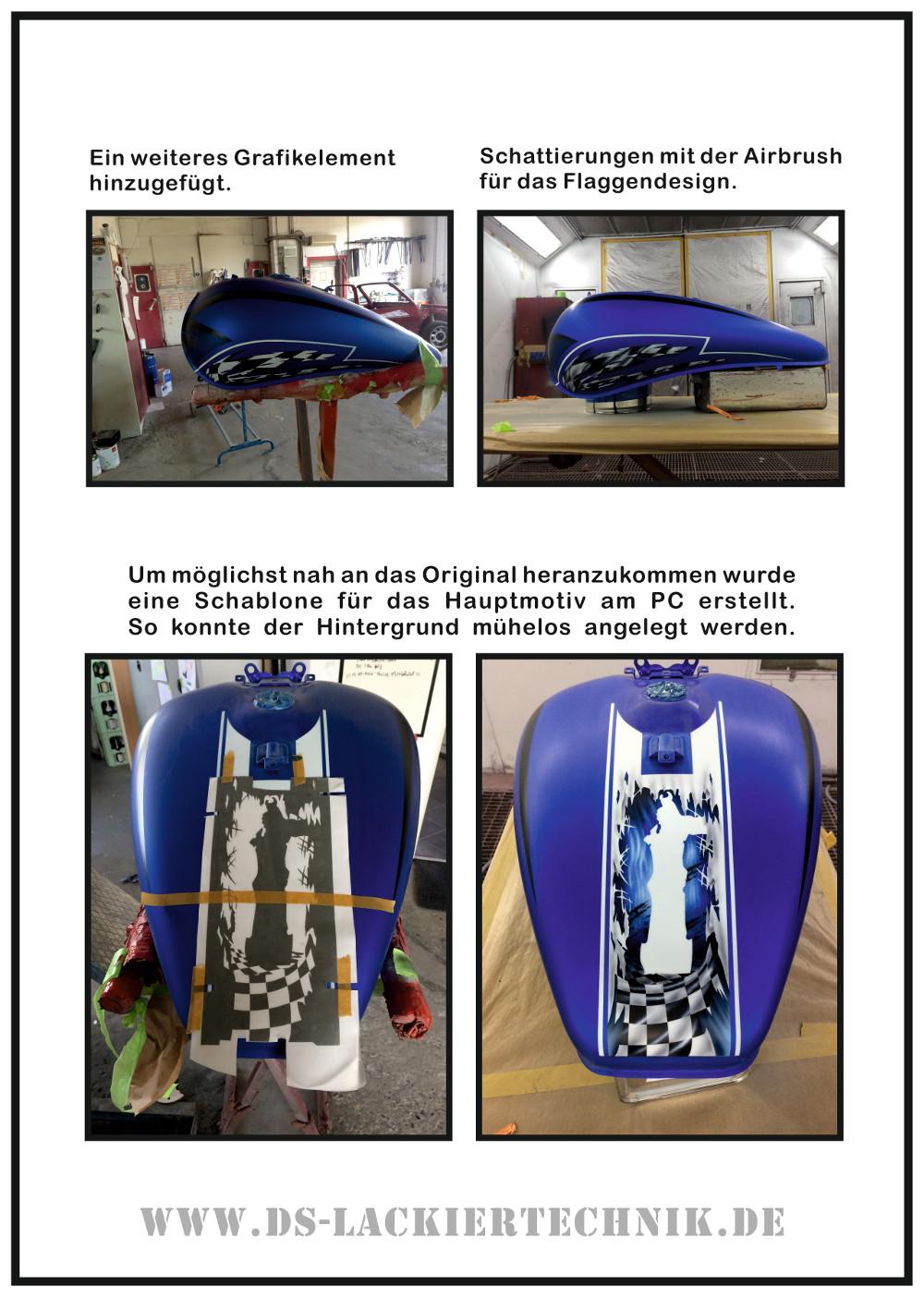 Motorrad Airbrush! Unfallschaden, Airbrush komplett erneuert 5 Motorrad Airbrush
