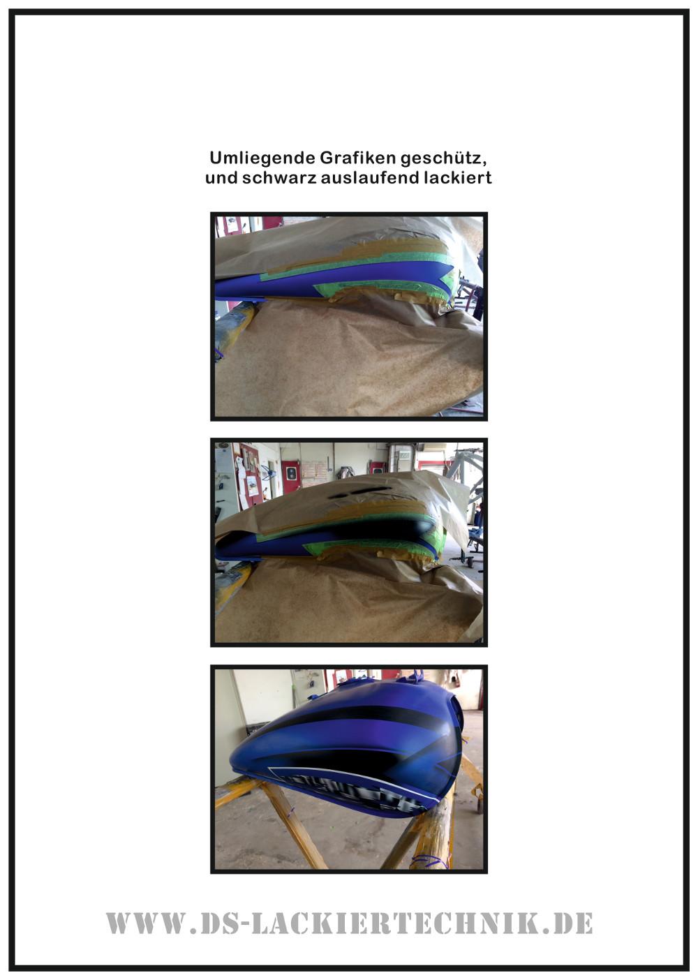 Motorrad Airbrush! Unfallschaden, Airbrush komplett erneuert 6 Motorrad Airbrush