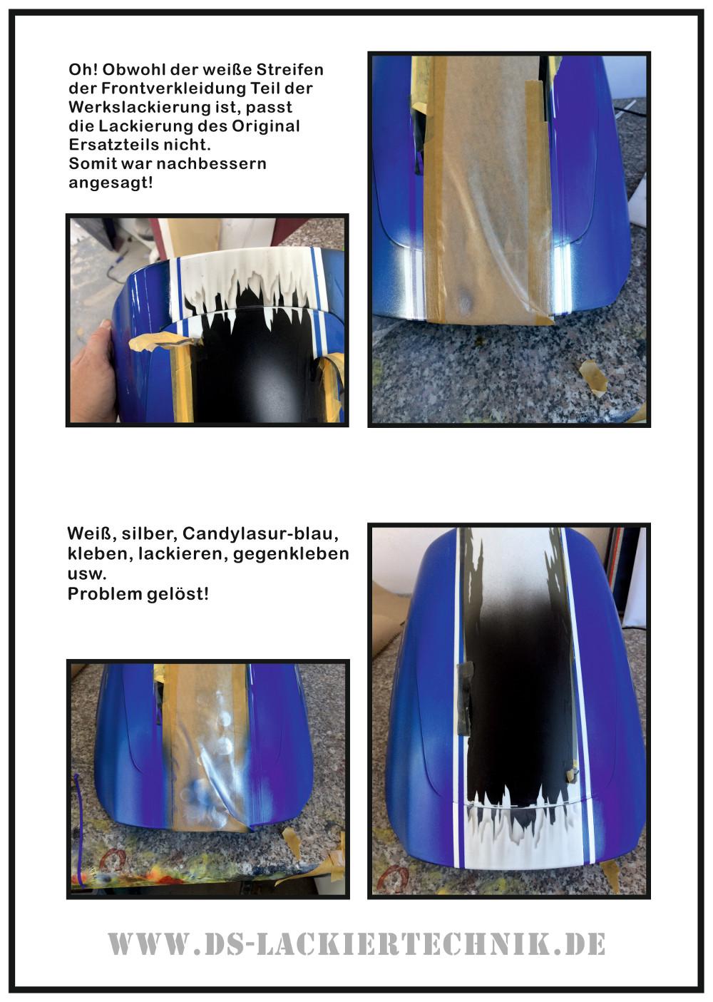 Motorrad Airbrush! Unfallschaden, Airbrush komplett erneuert 7 Motorrad Airbrush