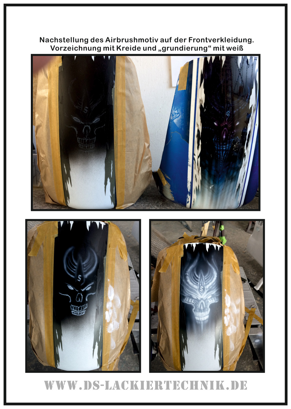 Motorrad Airbrush! Unfallschaden, Airbrush komplett erneuert 8 Motorrad Airbrush