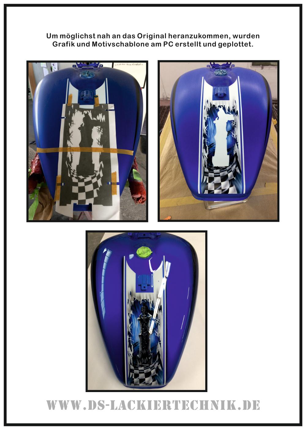 Motorrad Airbrush! Unfallschaden, Airbrush komplett erneuert 10 Motorrad Airbrush